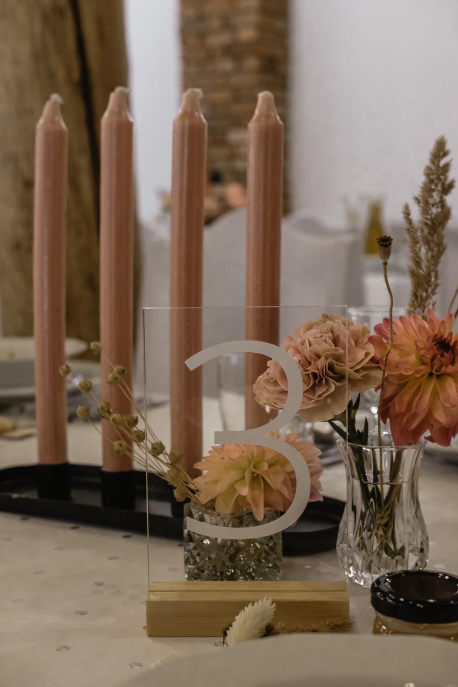 numer stołu boho dekoracja ślubna Gdańsk