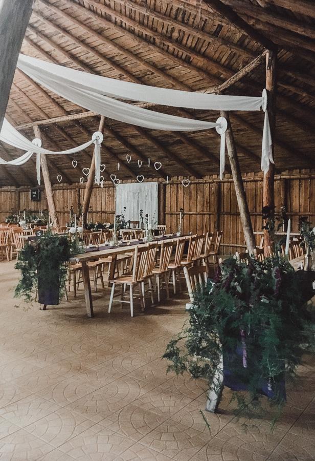 Dekoracje ślubne w sali weselnej Pan Tadeusz w Chwaszczynie