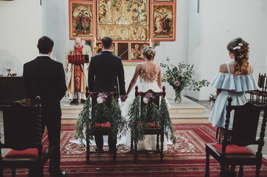 Dekoracja ślubu kościół świętej Trójcy Gdańsk